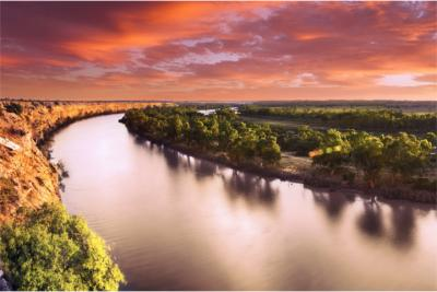 Sonnenuntergang am Murray River