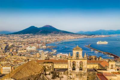 Neapel und der Monte Vesuvius