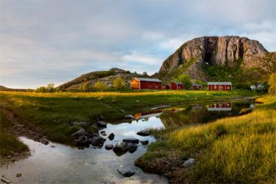 Berühmter Berg in Nordland