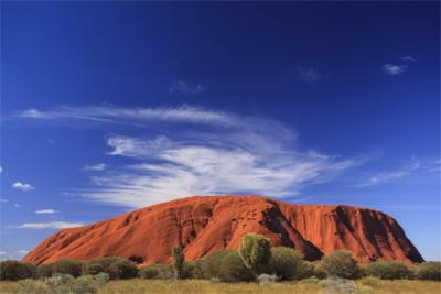 Berühmter Fels im Northern Territory