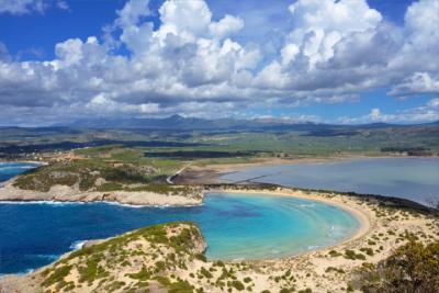 Lagune auf dem Peloponnes