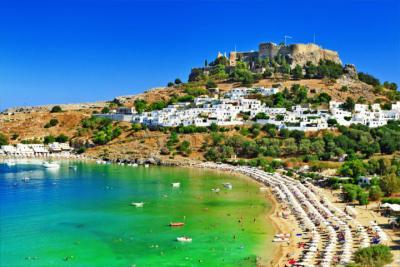 Die Dodekanes-Insel Rhodos