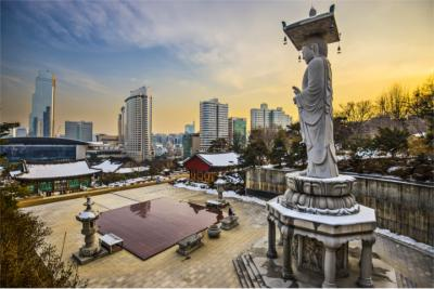 Blick auf Seoul