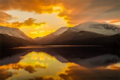Snowdonia See und Berg