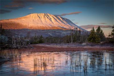 Telemarks höchster Berg am Abend