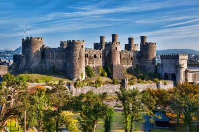Berühmtes Conwy Castle in Wales