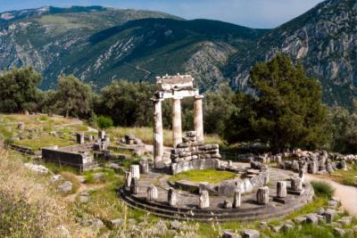 Ein Tempel in Delphi
