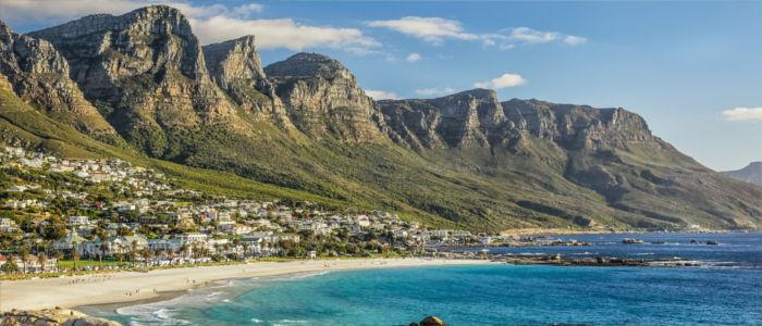 Kapstadt am Meer in Südafrika