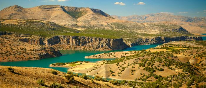 Der Canyon vom Fluss Euphrat in der Türkei