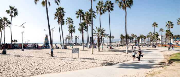 Beliebter Strand in Los Angeles