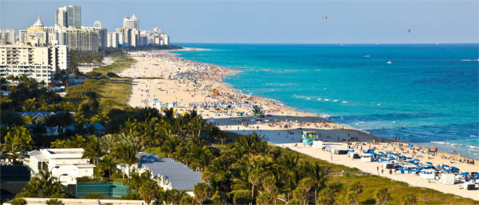 Sandstrand in Miami, Florida