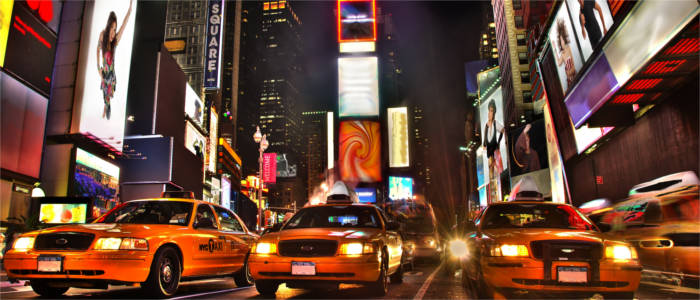 Yellow Cabs und Times Square