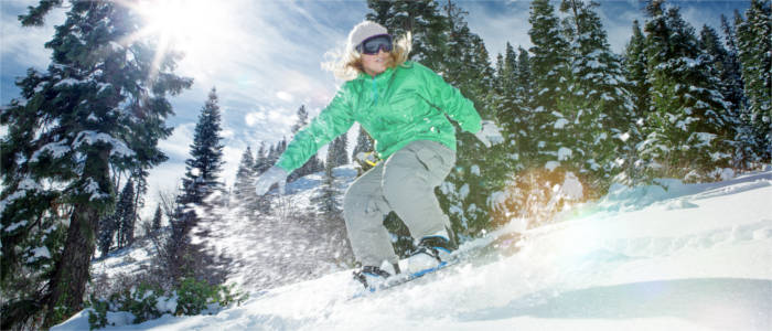 Wintersport in den Rockies